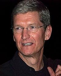 蘋果CEO庫克為全球第一的AI領導者。影片來源:維基百科